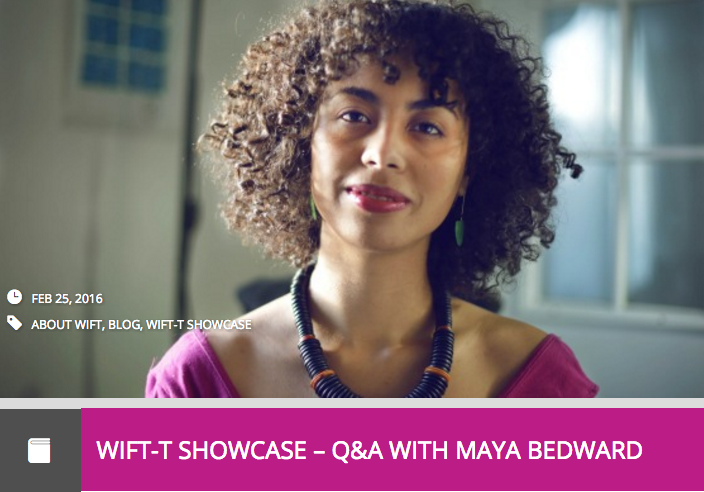Q & A with Maya Bedward
